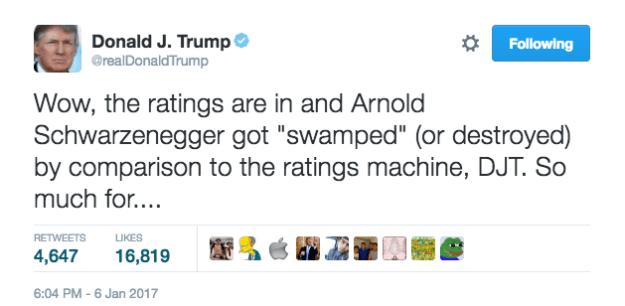 tweet trump Schwarzenegger 1