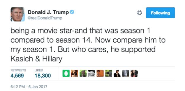 tweet trump Schwarzenegger