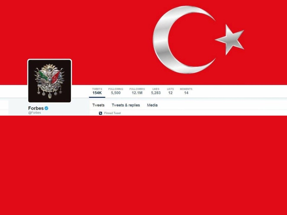 Twitter de Forbes tras ciberataque pro Turquía (Twitter)