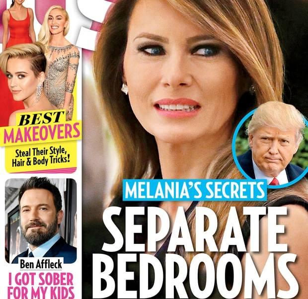 Melania y Donald Trump duermen en camas separadas: Us Weekly
