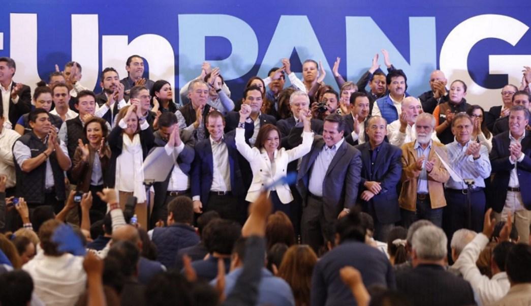 Josefina Vázquez Mota rinde protesta como candidata del PAN al Gobierno del Edomex. (Notimex)