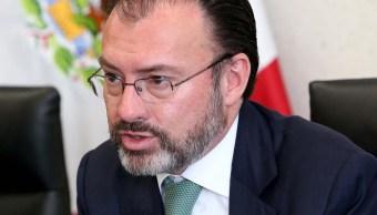 Luis Videgaray participa en una reunión; el funcionario inaugura la Semana Árabe en México 2017 (NTX, archivo)