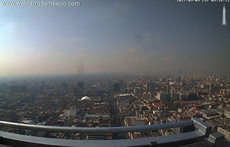 Vista panorámica de la CDMX (Twitter @webcamsdemexico)