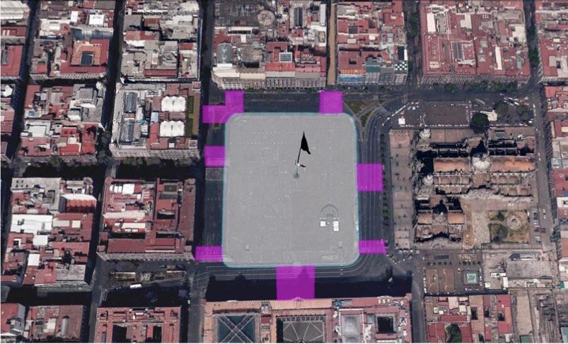 Imagen virtual de la remodelación del Zócalo de la Ciudad de México; autoridades inician los trabajos (Twitter @GobCDMX)