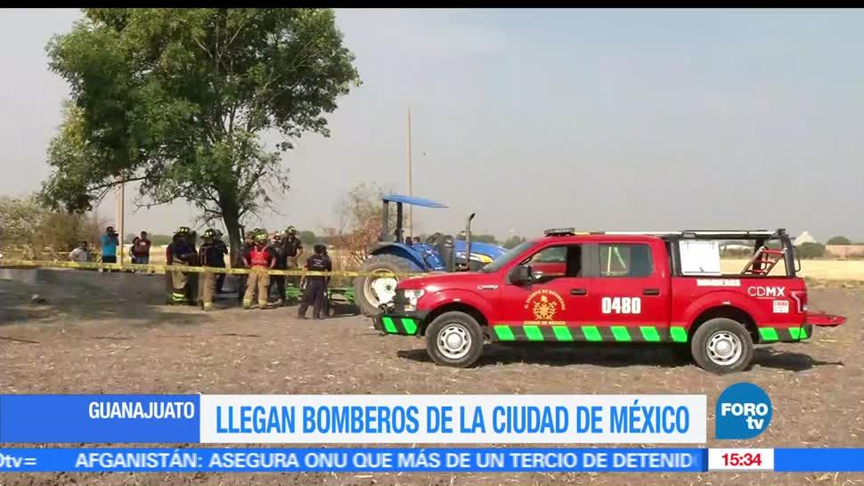 Bomberos de la CDMX apoyan labores de rescate en Guanajuato. (FOROtv)