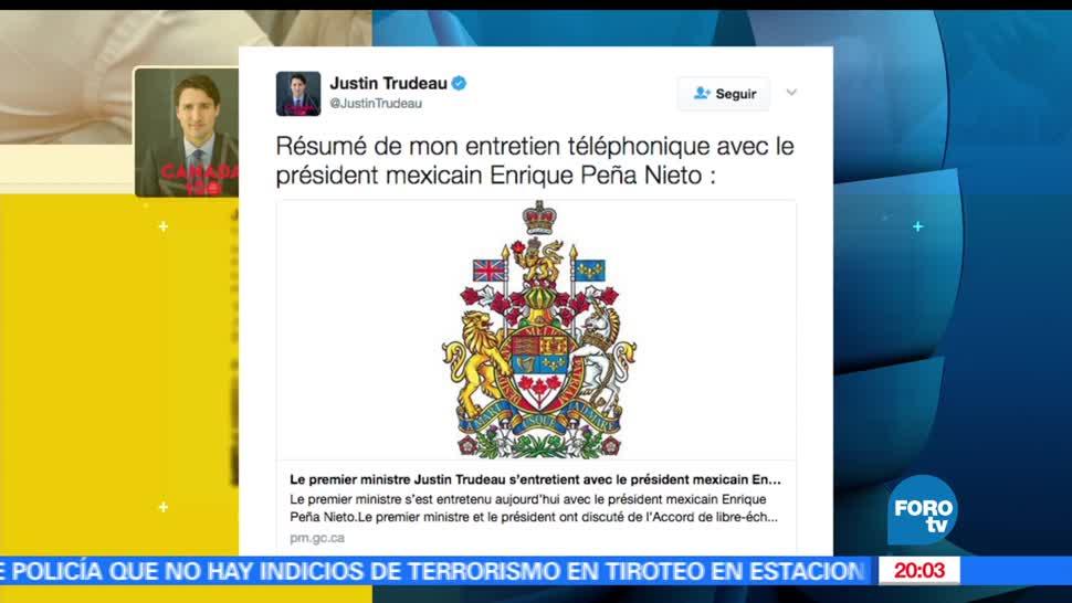 Mexico, Canada, Bienvenida, Cambio de postura, Trump, Noticieros Televisa,