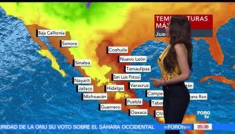 Clima, Viernes, Mayte Carranco, Temperatura, LLuvias, Ciudad de México,