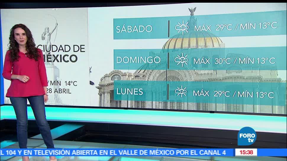 clima, claudia torres, el clima, a las tres, calor, Televisa news