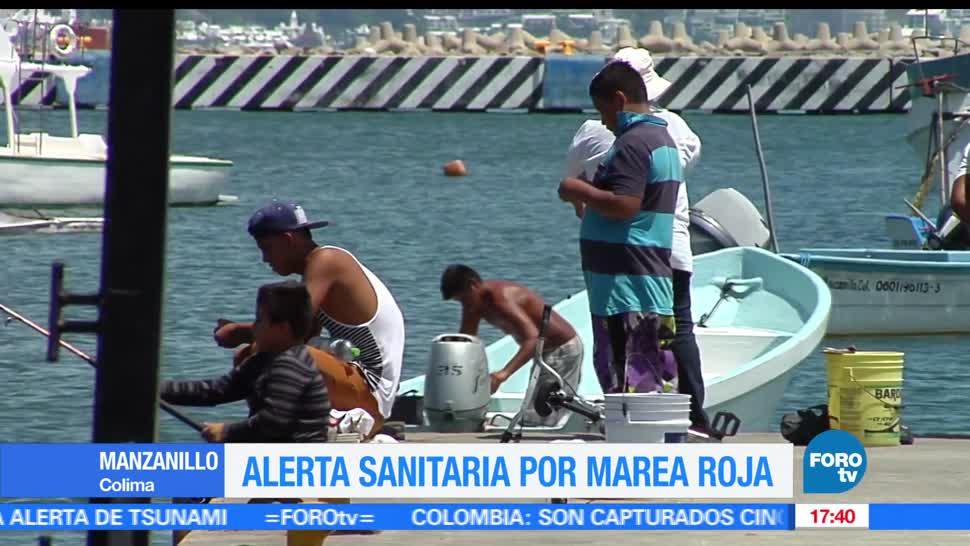 Alerta sanitaria, marea roja, Manzanillo, Colima, noticias, Televisa News