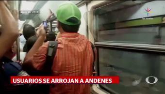 Metro, Video, Usuarios, Aventandose, Anrdenes, Linea 3