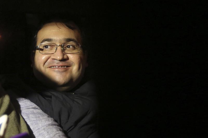 El exgobernador de Veracruz, Javier Duarte de Ochoa, a su llegada a la cárcel del cuartel Matamoros en la Ciudad de Guatemala (EFE)