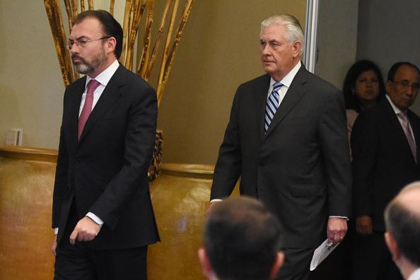 El canciller Luis Videgaray y el secretario de Estado de los Estados Unidos, Rex Tillerson. (Getty Images, archivo)