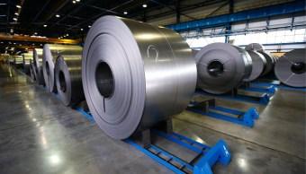 Rollo de acero listo para ser empacado y exportado. (Getty Images)