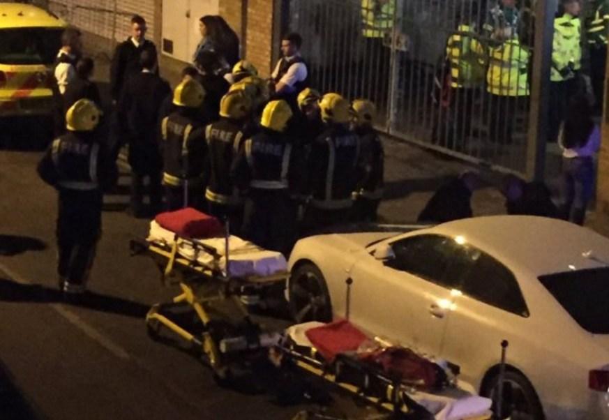 Un ataque con ácido obligó a desalojar a las 600 personas que se encontraban en un club nocturno de Londres (Twitter @hackneygazette)