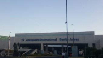 El nuevo programa del SAT de revisión a pasajeros arranca en la Terminal 2 del AICM. (Noticieros Televisa)
