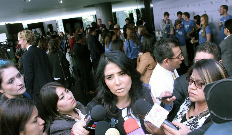Alejandra Barrales, presidenta nacional del PRD. (Twitter: @SenadoresPRD)
