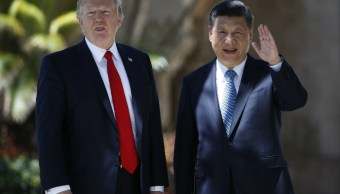 La reunión, realizada en el club Mar-a-Lago, propiedad de Trump, estuvo opacada por el bombardeo de Estados Unidos a Siria (AP)