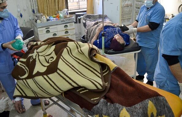 Paciente atacado con armas químicas