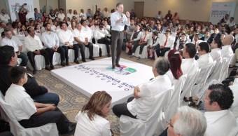 Aurelio Nuño presentó el Nuevo Modelo Educativo en BCS. (Twitter @aurelionuno)