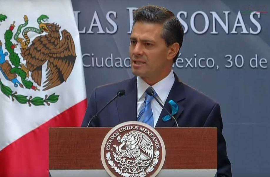 Peña Nieto recordó que el diagnóstico correcto y temprano es importante (Presidencia de la República/Archivo)