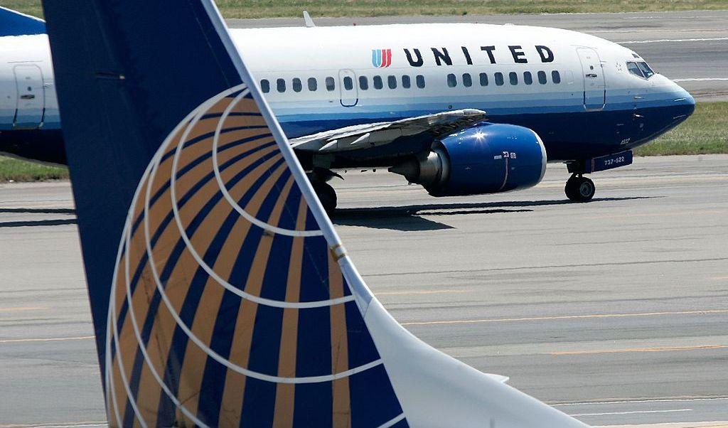 Aviones de United Airlines en el aeropuerto Ronald Reagan en Washington, DC.