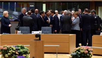 Jefes de Estado de la UE dialogan sobre el Brexit. (Reuters)