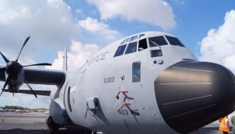 El avión cazahuracanes de la Fuerza Aérea de EU que aterrizó en Mérida, Yucatán, puede ingresar de al ojo del huracán y conocer con anticipación la naturaleza del fenómeno. (Twitter: @conagua_mx)