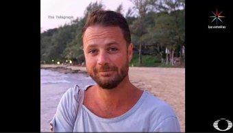 Chris Bevington, víctima del ataque en Estocolmo. (Noticieros Televisa)