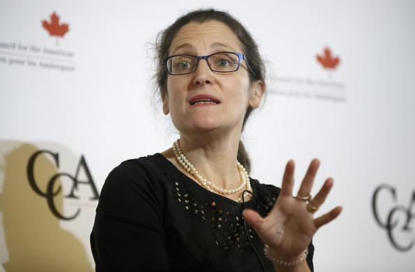 Chrystia Freeland, ministra de Asuntos Globales de Canadá, anunció sanciones contra el régimen sirio del presidente Bashar al Assad. (Getty Images)
