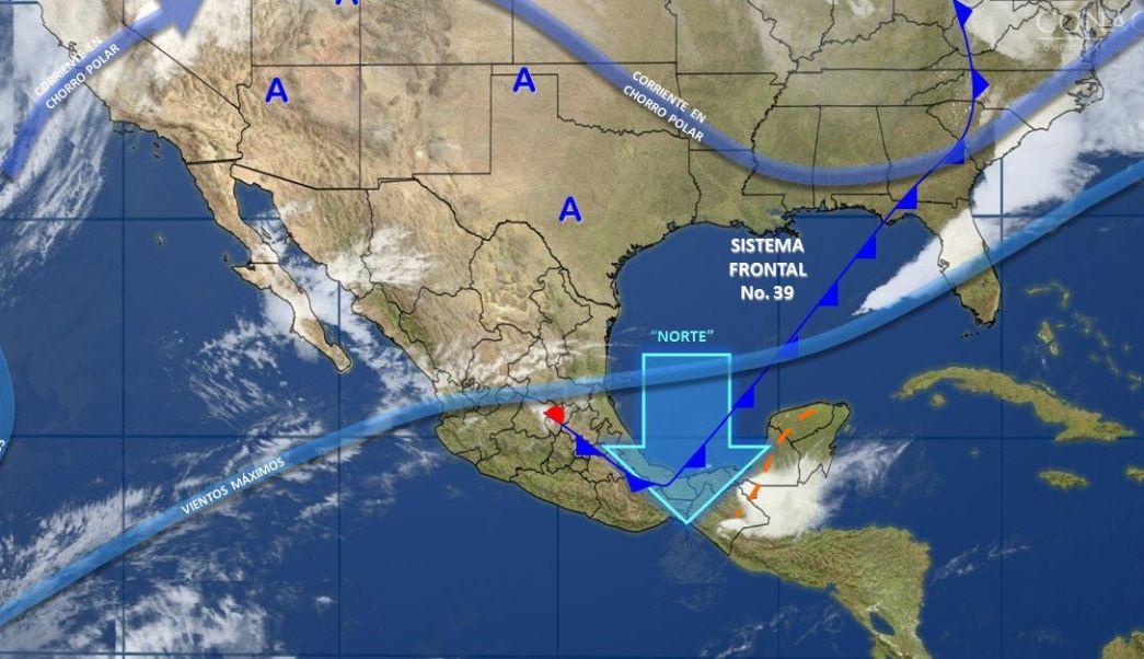 Mapa con el pronóstico del clima para este 6 de abril; seguirán las temperaturas frescas en el norte y centro de México. (SMN)