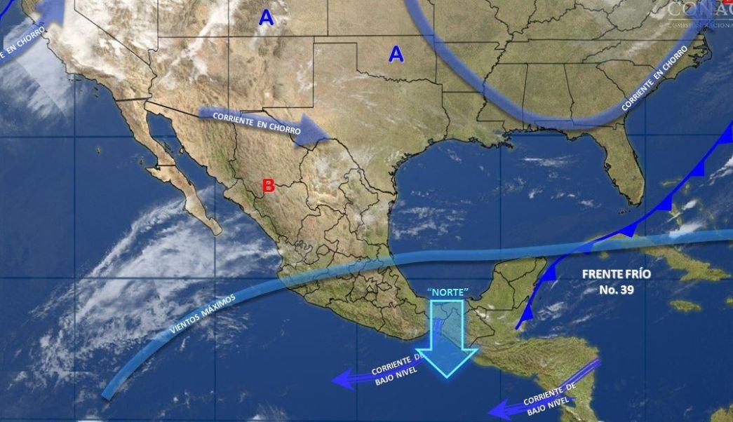 Mapa con el pronóstico del clima para este 7 de abril; prevén una temperatura máxima de 40 grados en Baja California, Sonora, Sinaloa. (SMN)