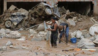 Mocoa, capital del departamento de Putumayo, fue golpeada la madrugada del sábado por la crecida del río Mocoa y sus afluentes Sangoyaco y Mulatos. (AP)