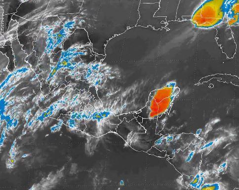 Nuevo frente frío que se aproxima al noroeste de la República Mexicana y un sistema de alta presión atmosférica generarán este lunes vientos fuertes (Twitter/@conagua_clima)
