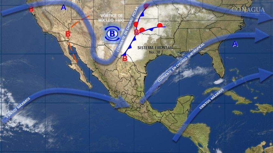 Imagen de fenómenos meteorológicos en la República Mexicana (Twitter @conagua_clima)