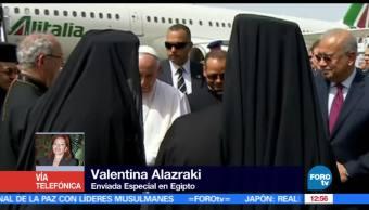 Concluye primer día del papa Francisco en Egipto