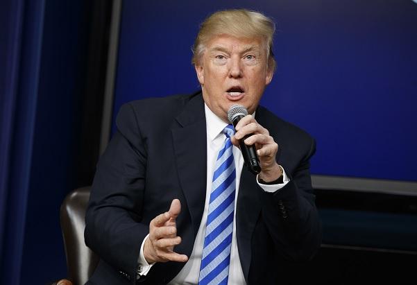 Donald Trump, presidente de Estados Unidos, en conferencia de prensa.