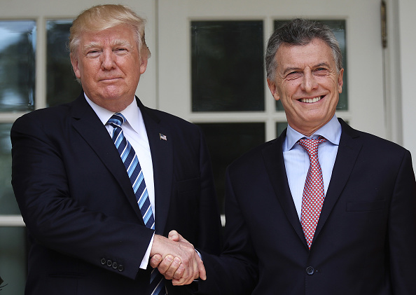Las declaraciones de Donald Trump ocurrieron durante la visita de Estado del presidente de Argentina, Mauricio Macri. (Getty Images)