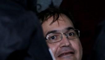 El ex gobernador del estado mexicano Veracruz Javier Duarte tras ser detenido en un hotel de Panajachel, Guatemala (Reuters)