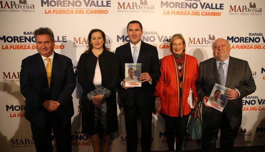 El exgobermador de Puebla Rafael Moreno Valle, presenta su libro 'La Fuerza del Cambio'. (Twitter @RafaMorenoValle)