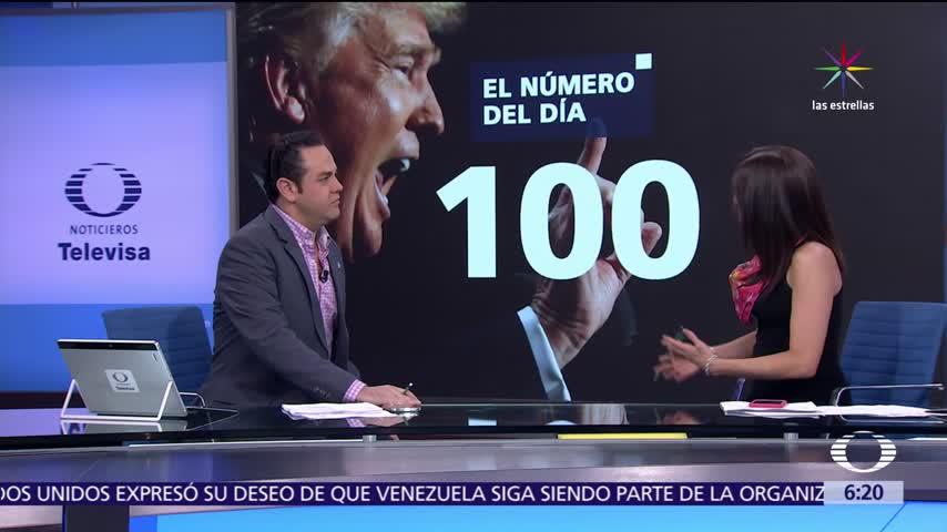 Los 100 dias de Donald Trump en la presidencia de Estados Unidos