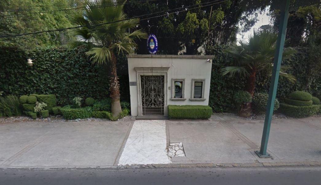 Sede de la Embajada de Argentina en la CDMX (Google Maps)