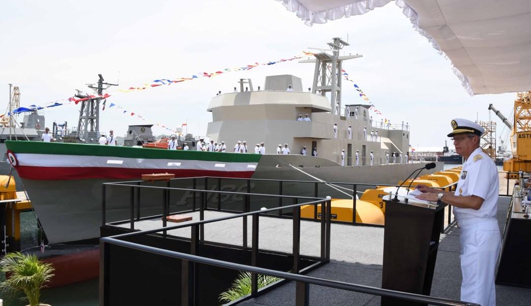 En agosto del 2016, la Secretaría de Marina puso a flote la Patrulla Oceánica ARM 'HIDALGO'. (Semar, Archivo)