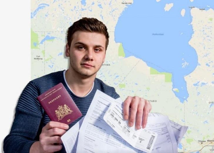 Un joven holandés quería viajar a Australia, pero terminó en Canadá (thesun.co.uk)