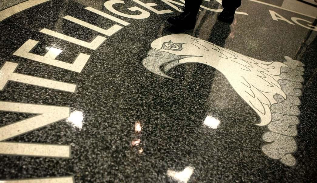 Escudo de la CIA en sus instalaciones en Virginia, Estados Unidos.