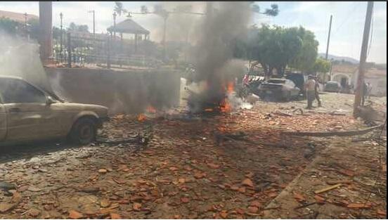 Explosión en el municipio de Chiquilistlán, Jalisco. Twitter (@TelevisaGDL)