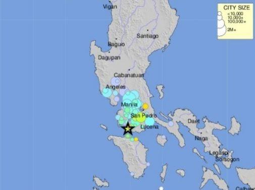 Tres sismos en Filipinas provocan algunos daños materiales y pánico entre la población. (@tweet_quake)