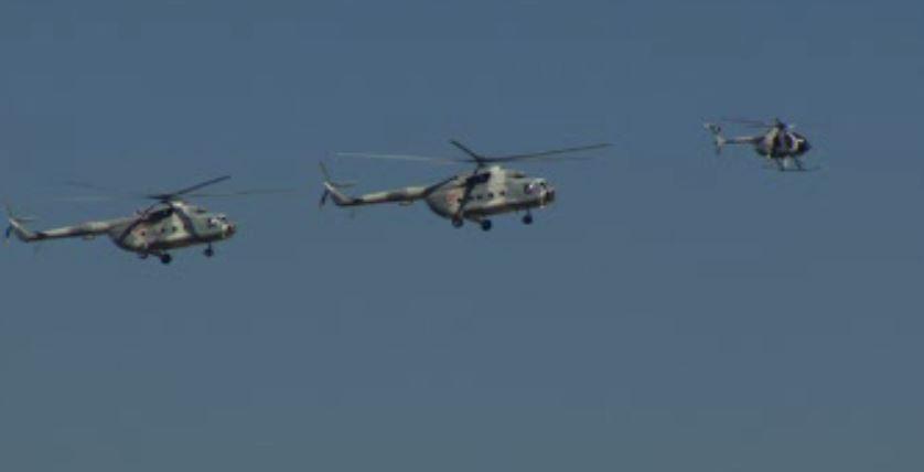 En total participaron 127 pilotos de la Fuerza Aérea Mexicana que tripularon 51 Aeronaves (Noticieros Televisa)