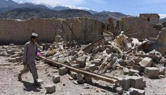 """El distrito de Achin de la provincia de Nangarhar quedó en ruinas tras la """"madre de todas las bombas"""" (Foto: dailymail.co.uk)"""