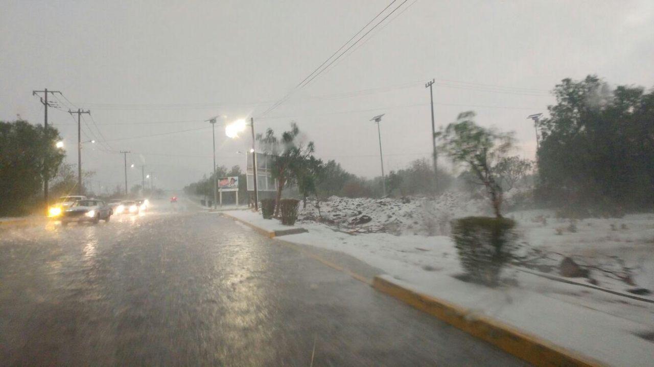Granizada en Axapusco, Edomex. (Noticieros Televisa )
