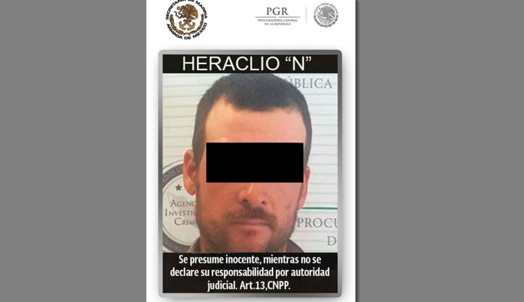 Heraclio 'N' está acusado de quitarle la vida por disparo de arma de fuego al agente de la Patrulla Fronteriza, Brian Terry. (PGR)
